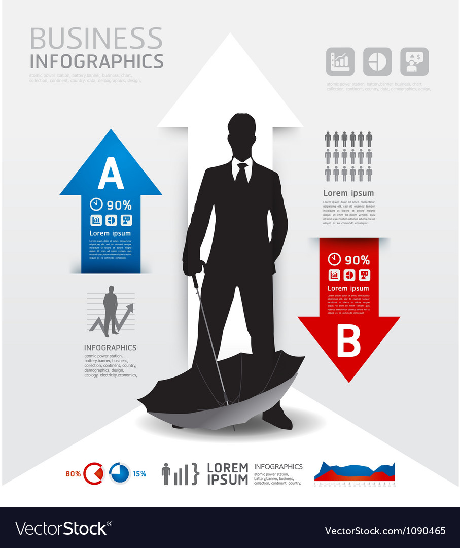 Infographics business and financial concept vector
