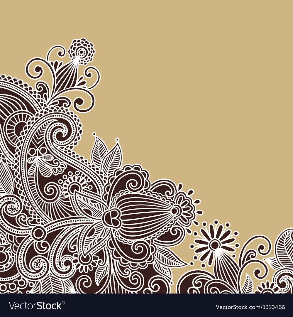 Ornate flower background vector