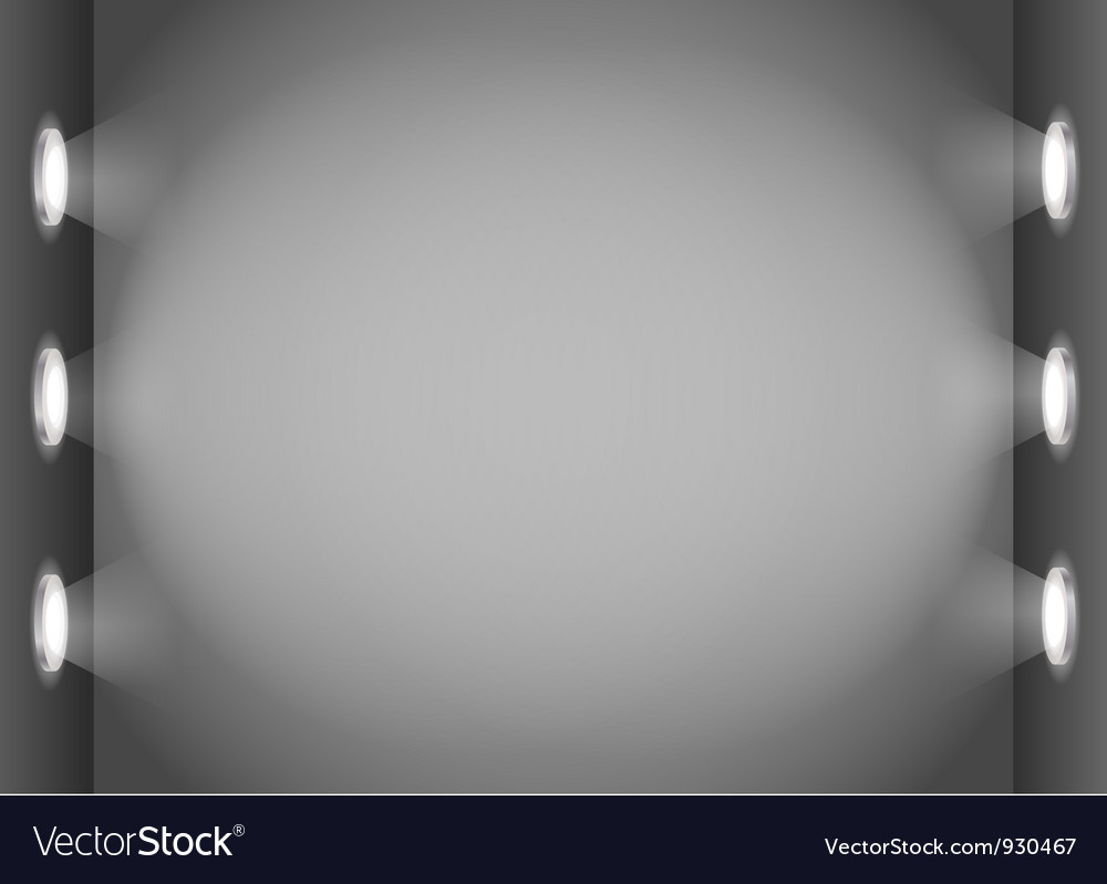 Illuminated wall template vector