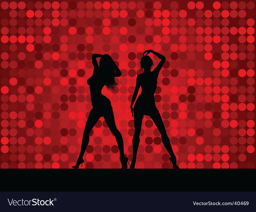 Sexy female dancers vector