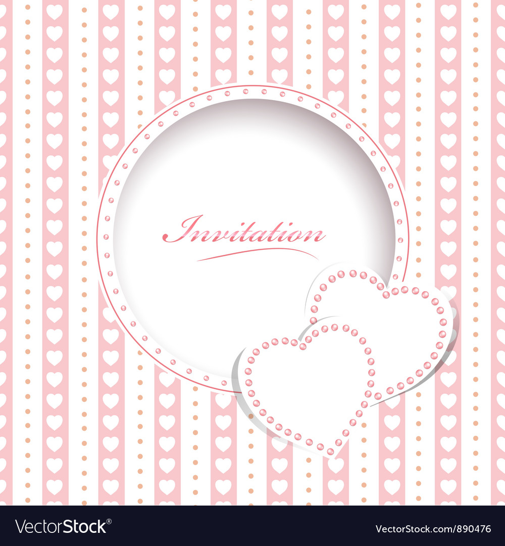 Wedding greetings or invitation card vector