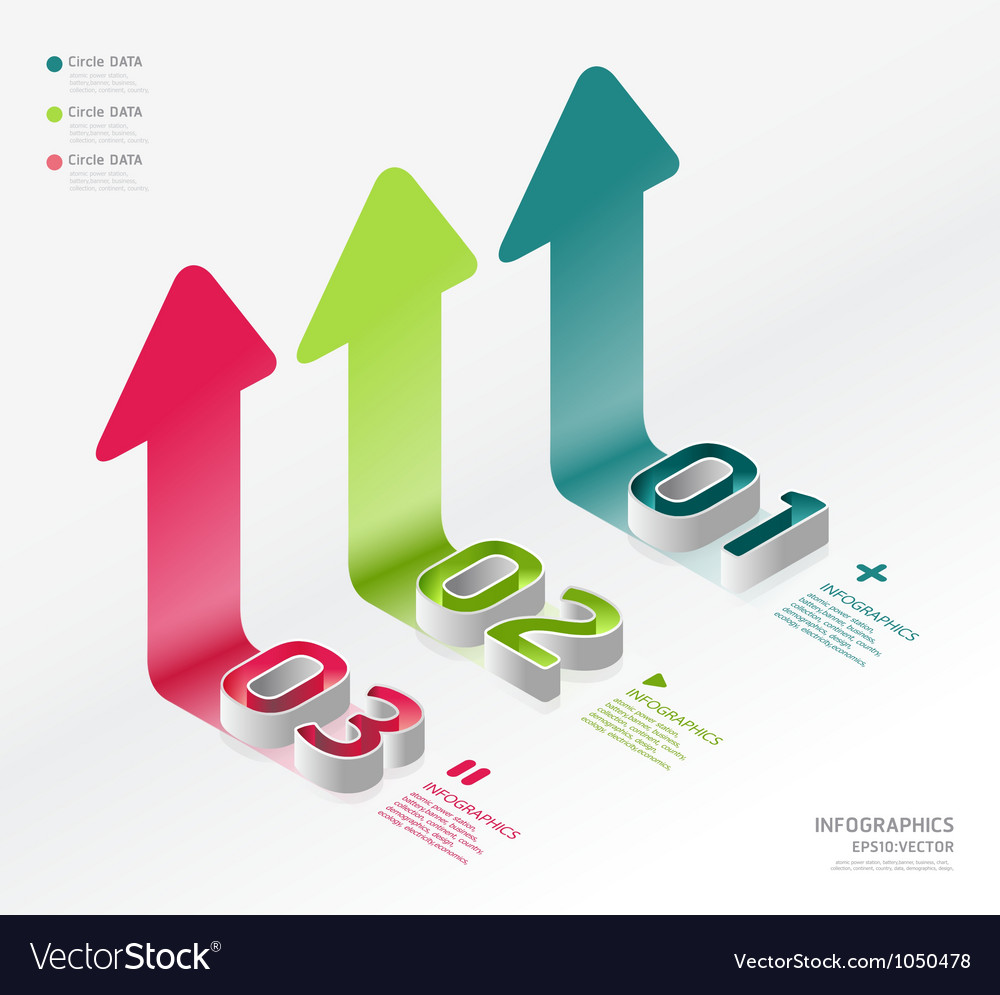 Infographic isometric graph vector by pongsuwan - Image #1050478 ...
