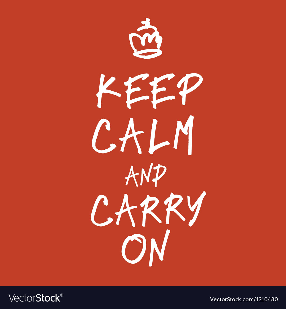 Keep calm handwritings vector