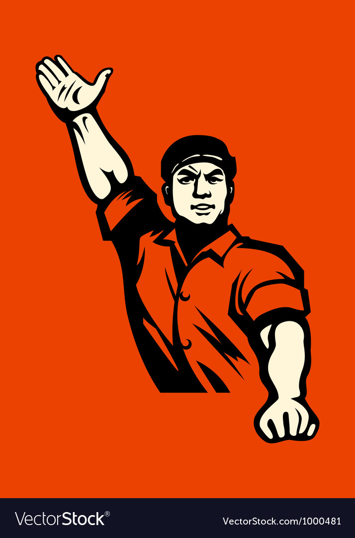 Communist worker vector