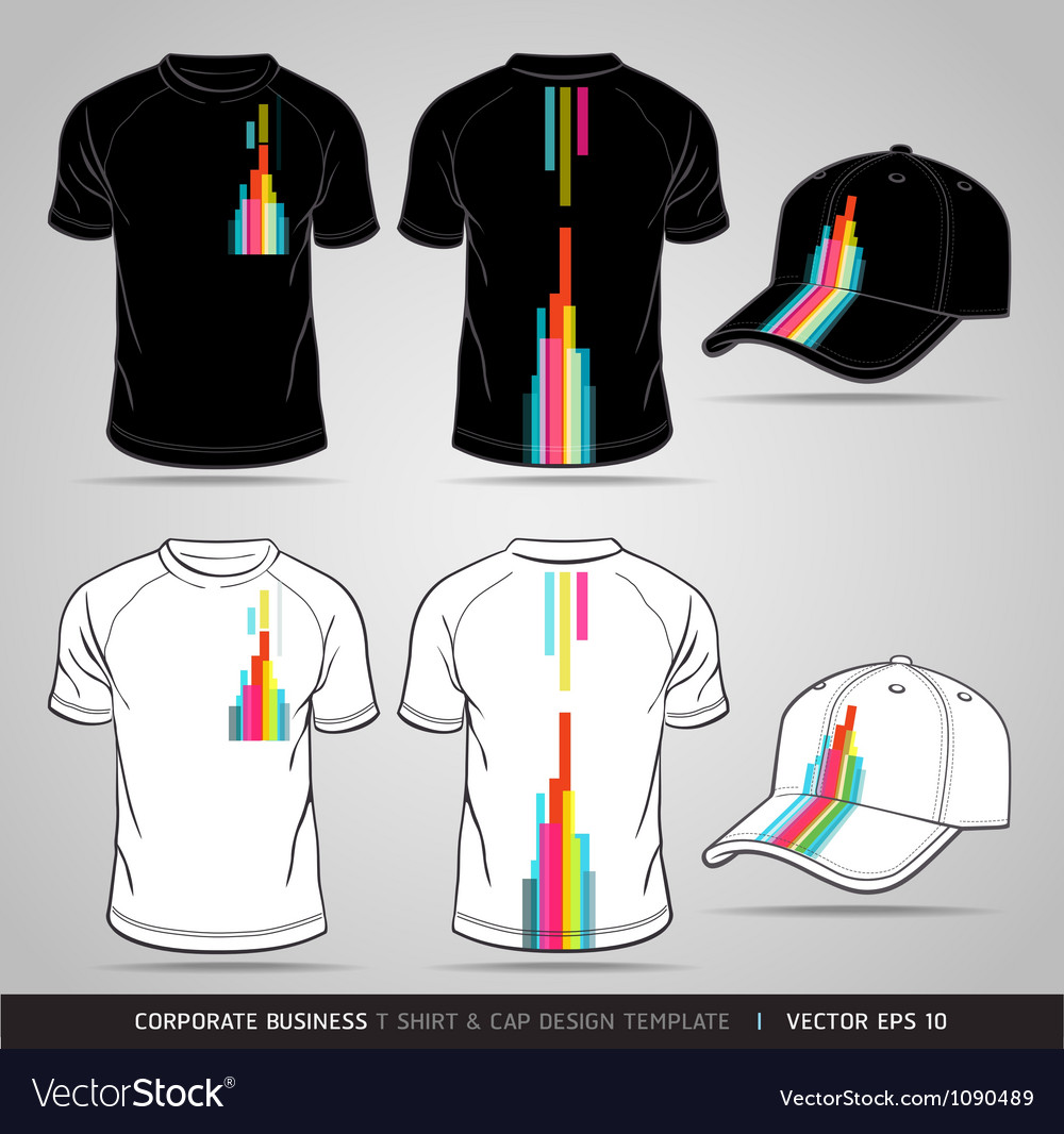 Tshirt and cap design template vector