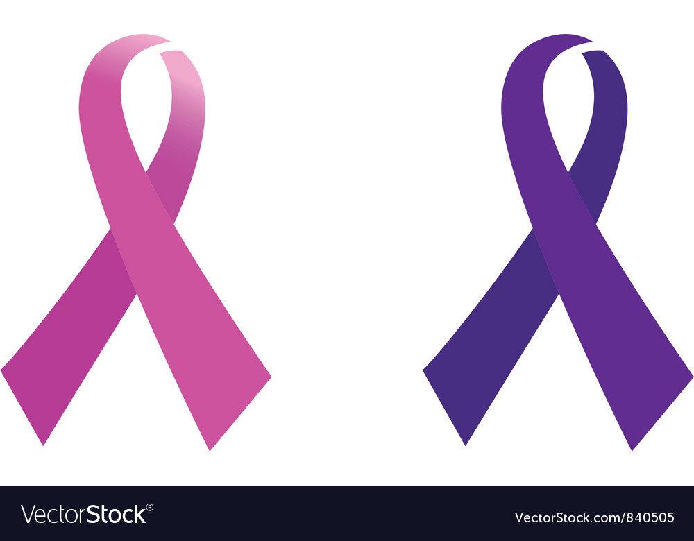 Awareness pink ribbon vector