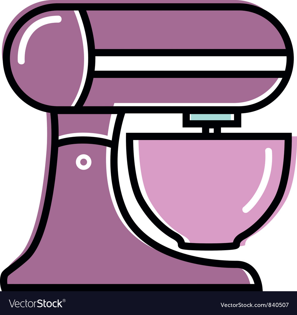 Retro kitchen mixer vector