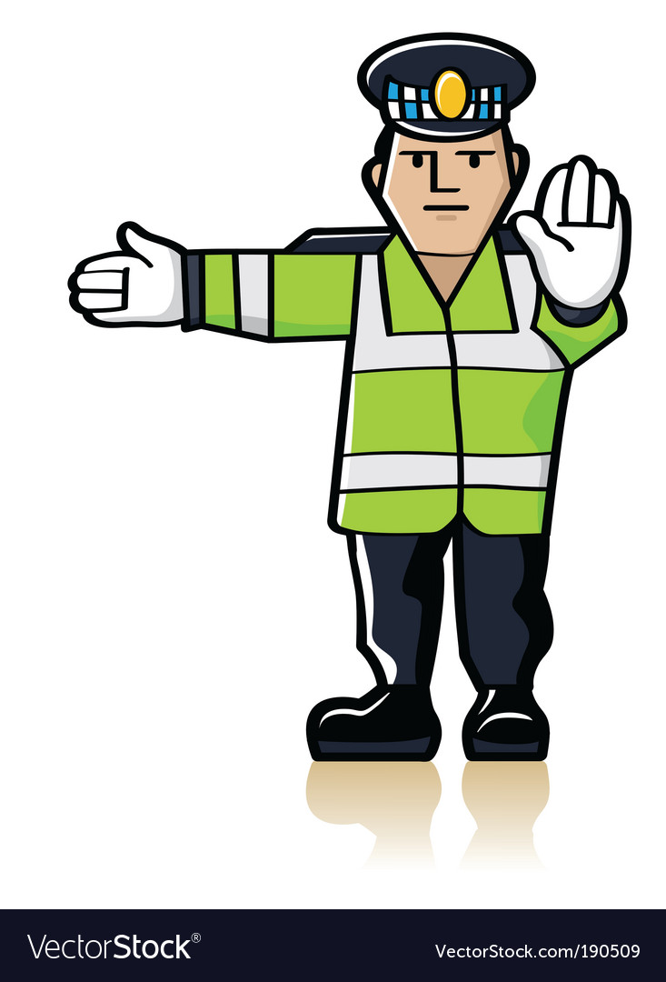 Traffic officer vector