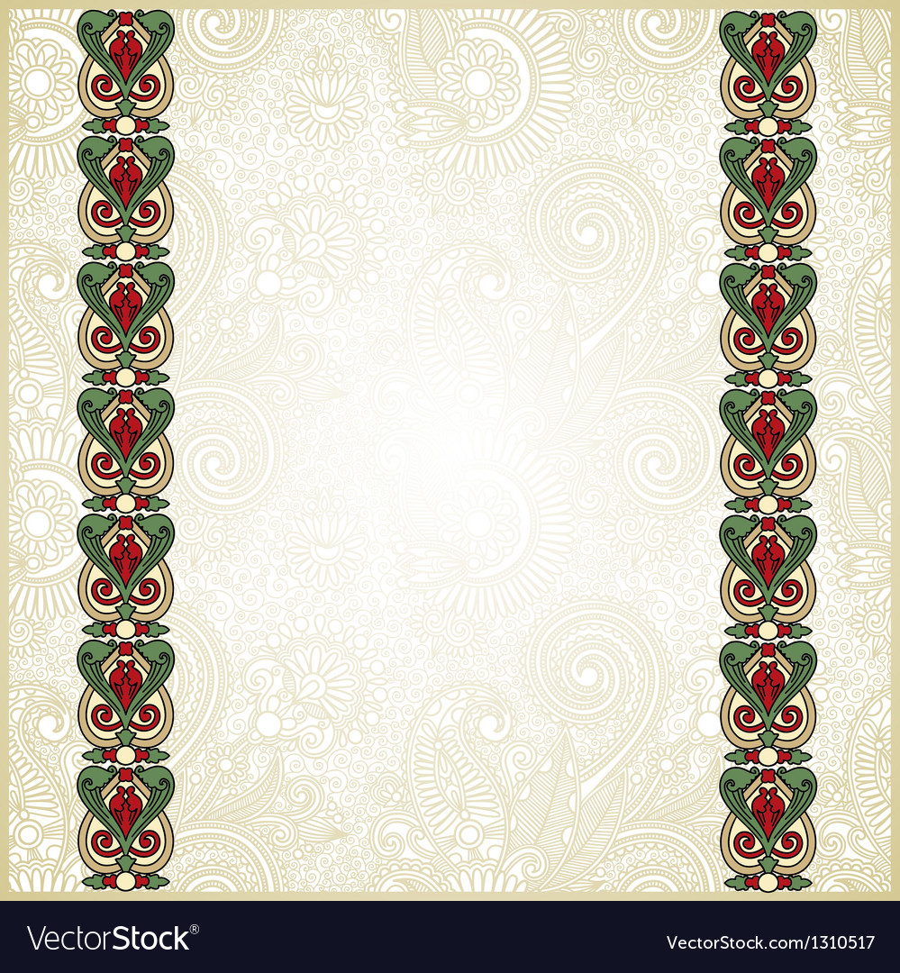 Ornate floral pattern with ornament vector