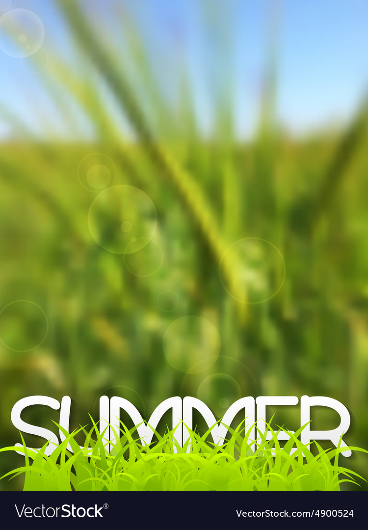 Abstract green blurred summer background