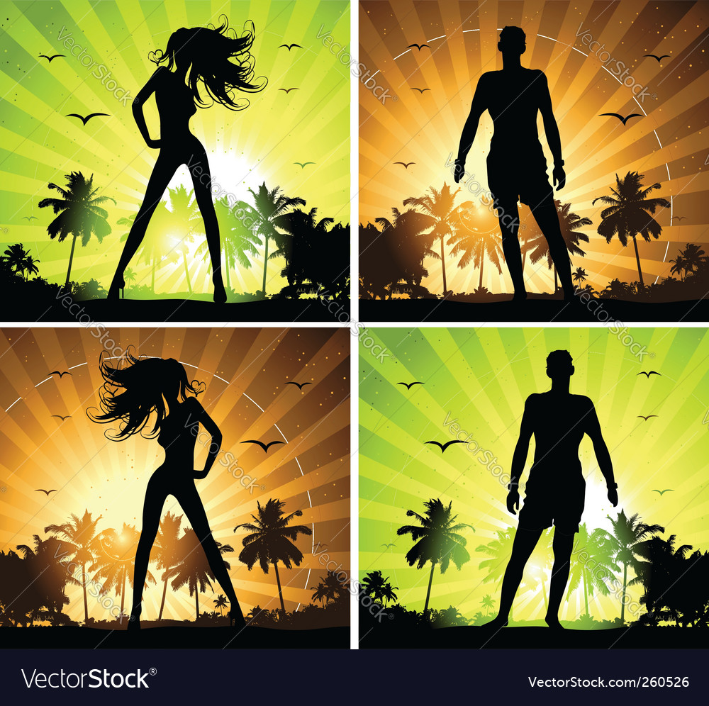 Summer holiday set vector