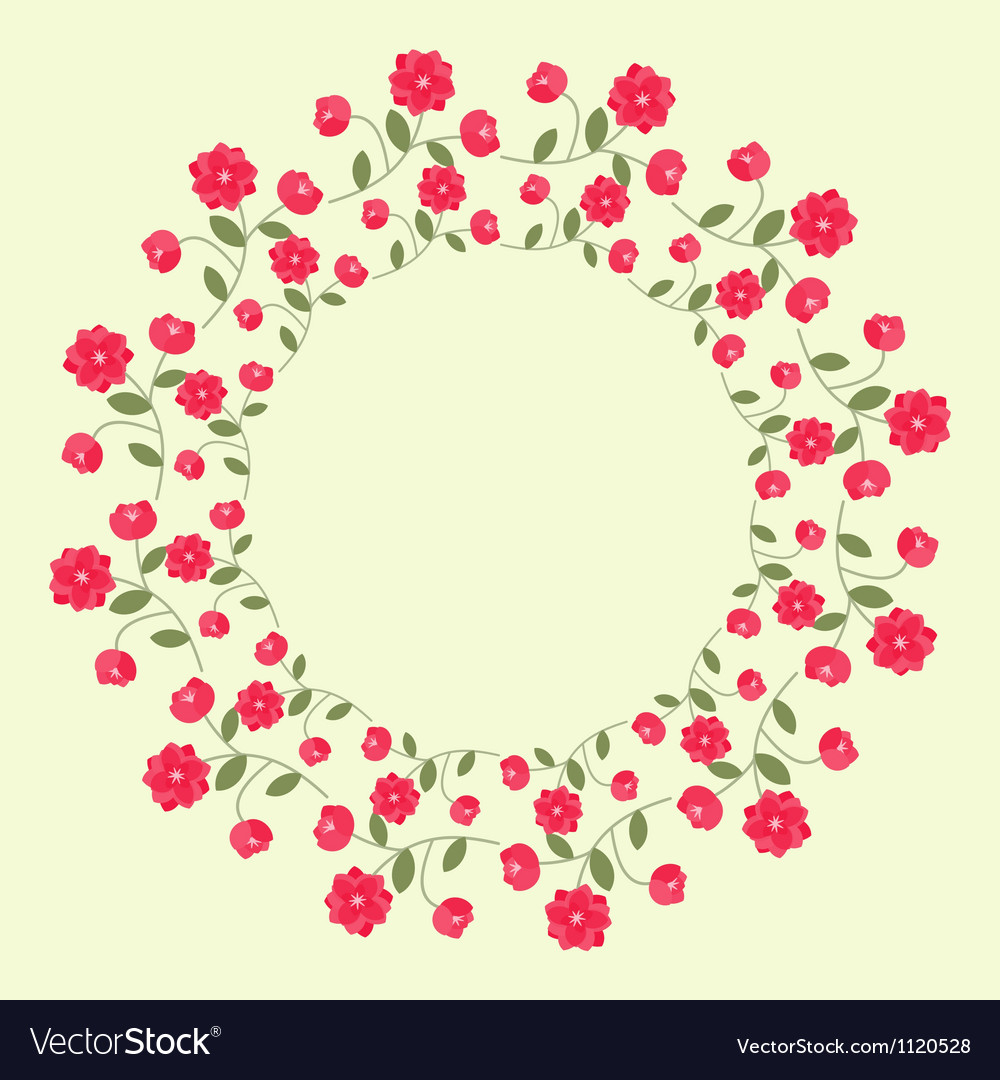 Ornamental wreath vector