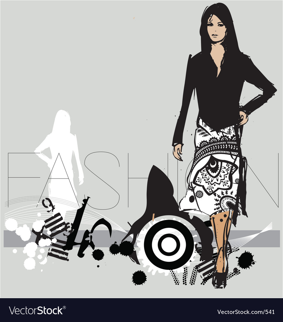 Free catwalk model vector