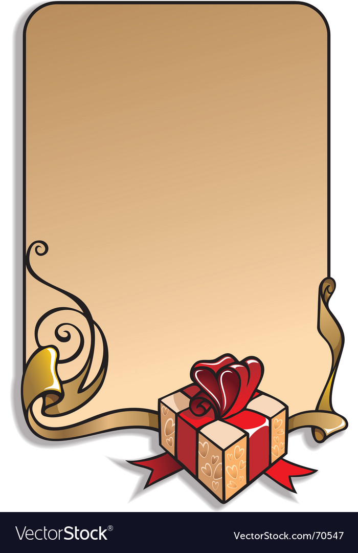 Holiday frame vector