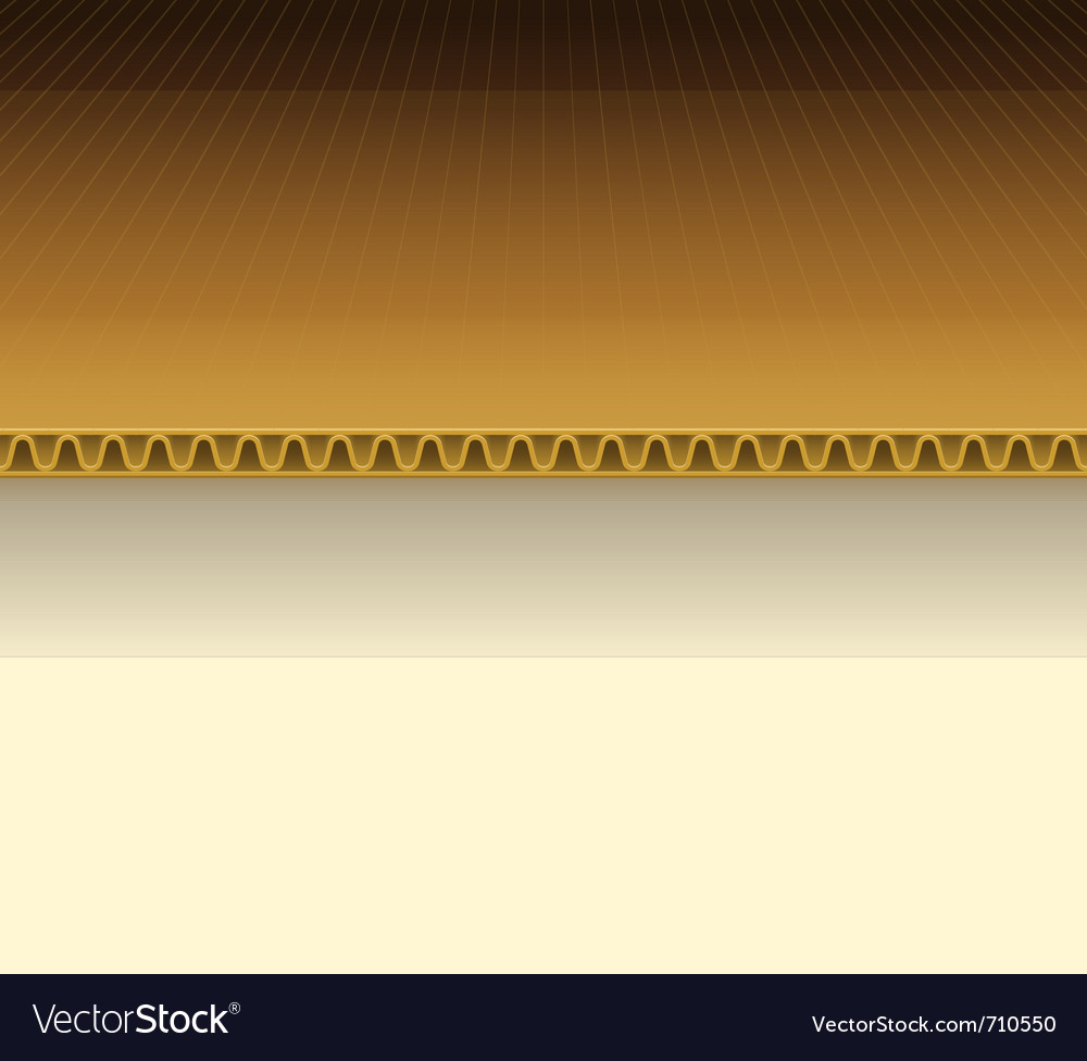 Brown cardboard vector