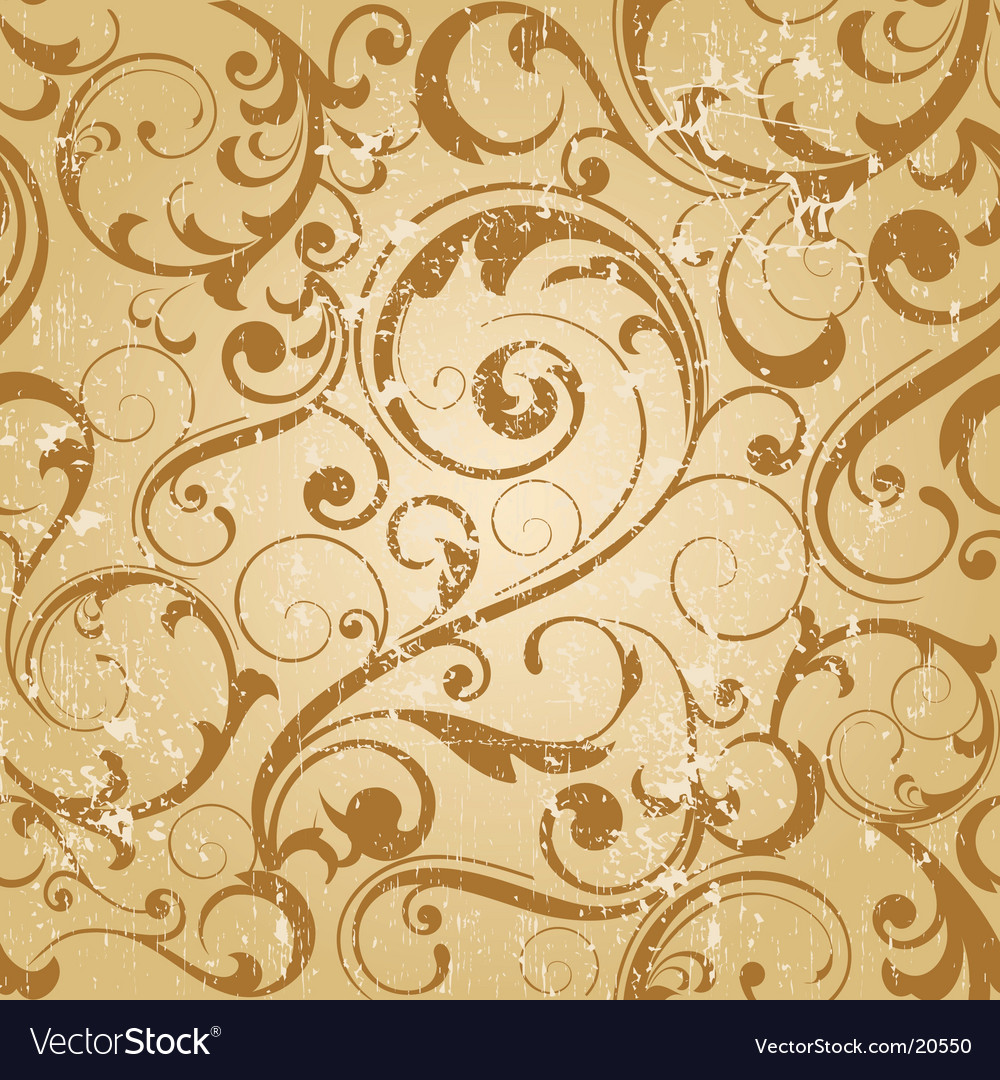 Grunge antique wallpaper tile vector