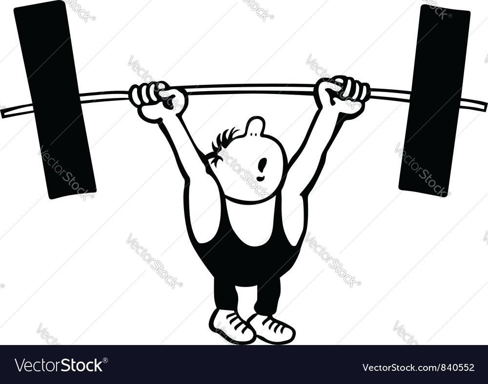 Man lifting weights vector by barbulat - Image #840552 - VectorStock