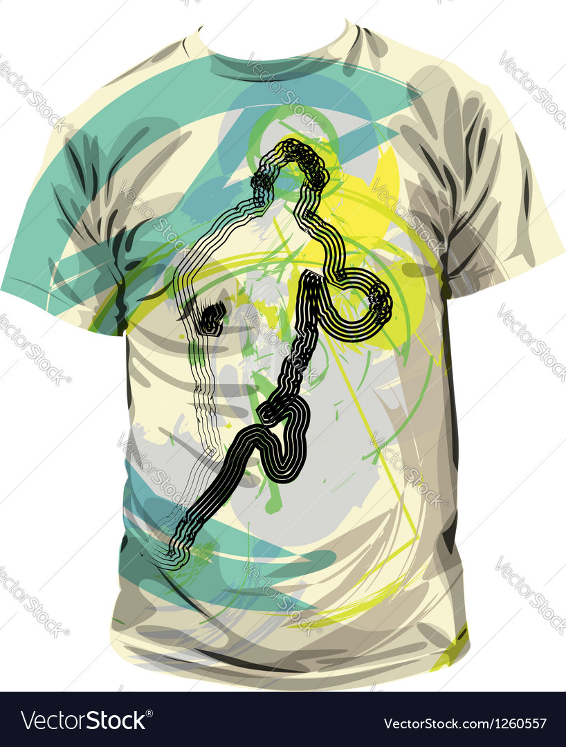 Basketball tshirt vector