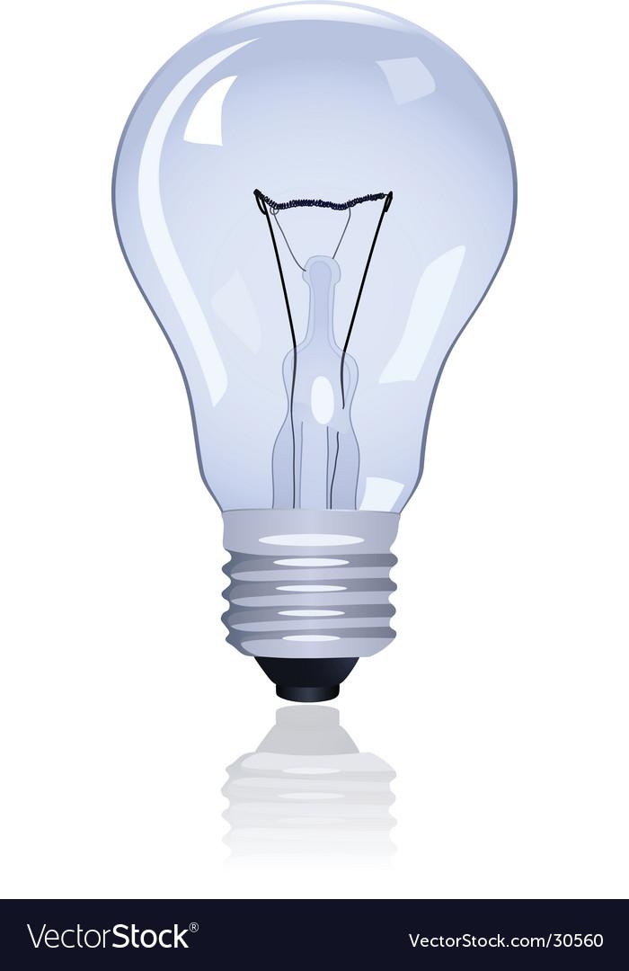 Electric lamp vector by natulrich image 30560 vectorstock