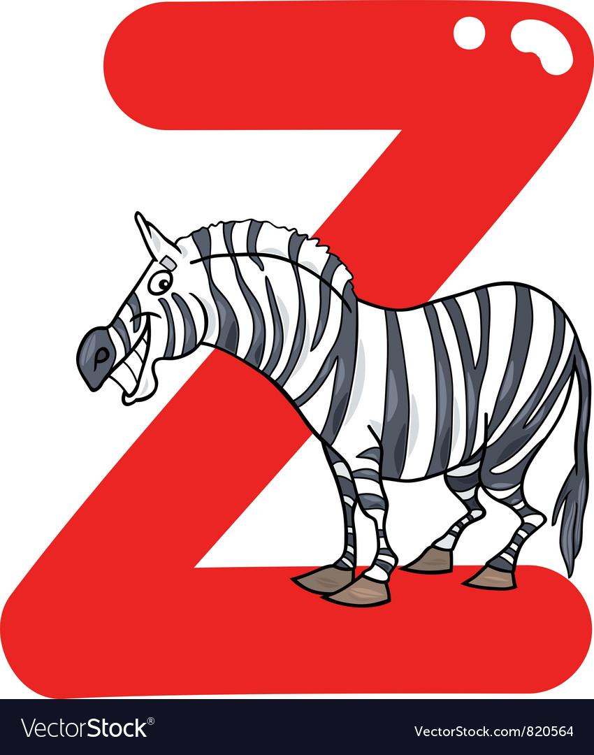 Z for zebra vector by Igor_Zakowski - Image #820564 - VectorStock