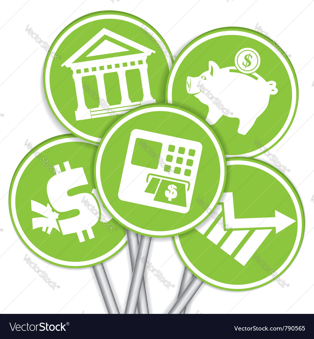 Financial business icon vector