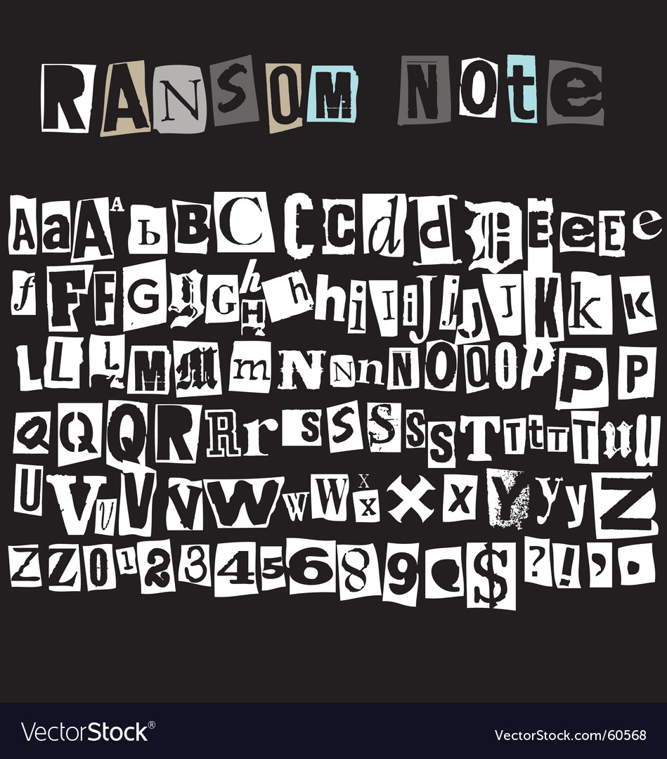 Free ransom note vector