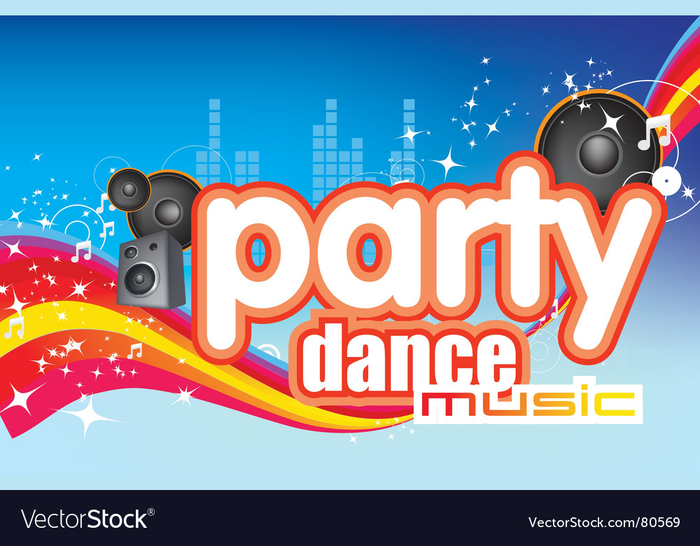 Dance music vector