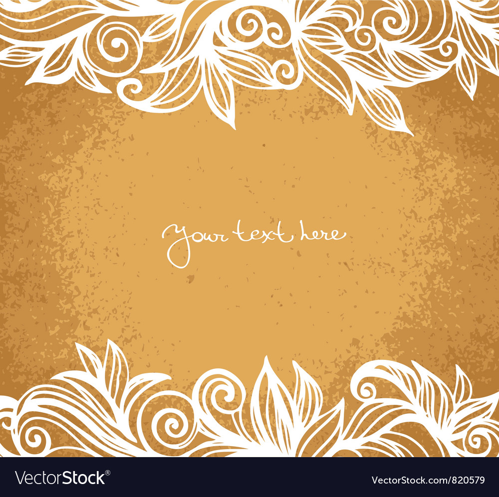 Absract floral background vector