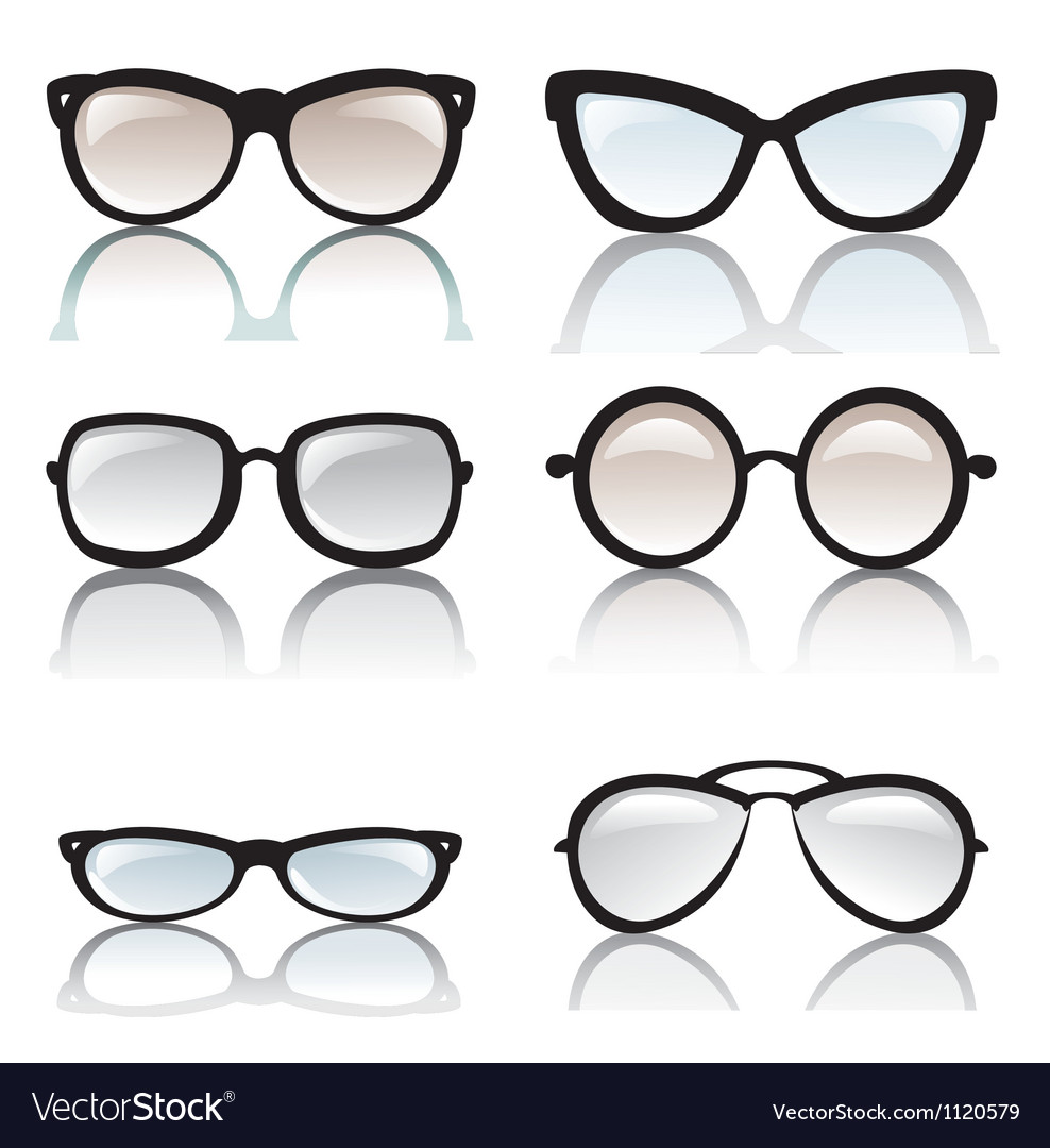 Glasses optic vector