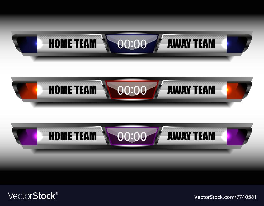 Sport team scoreboard template vector by ijaydesign99 - Image ...
