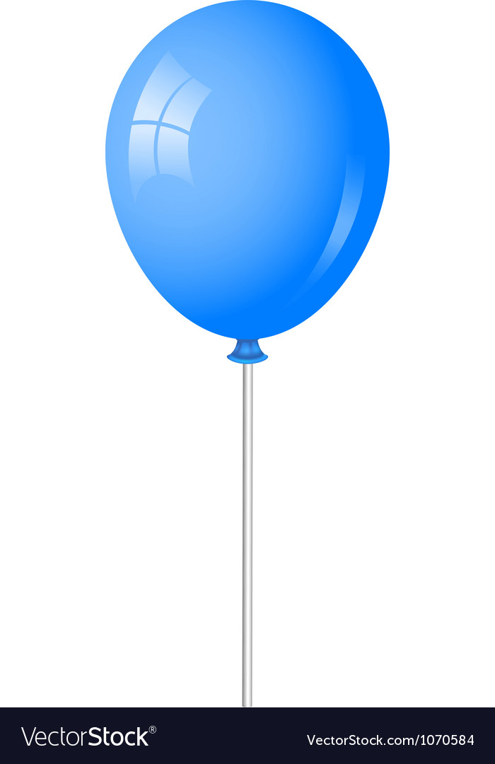 Blue baloon vector
