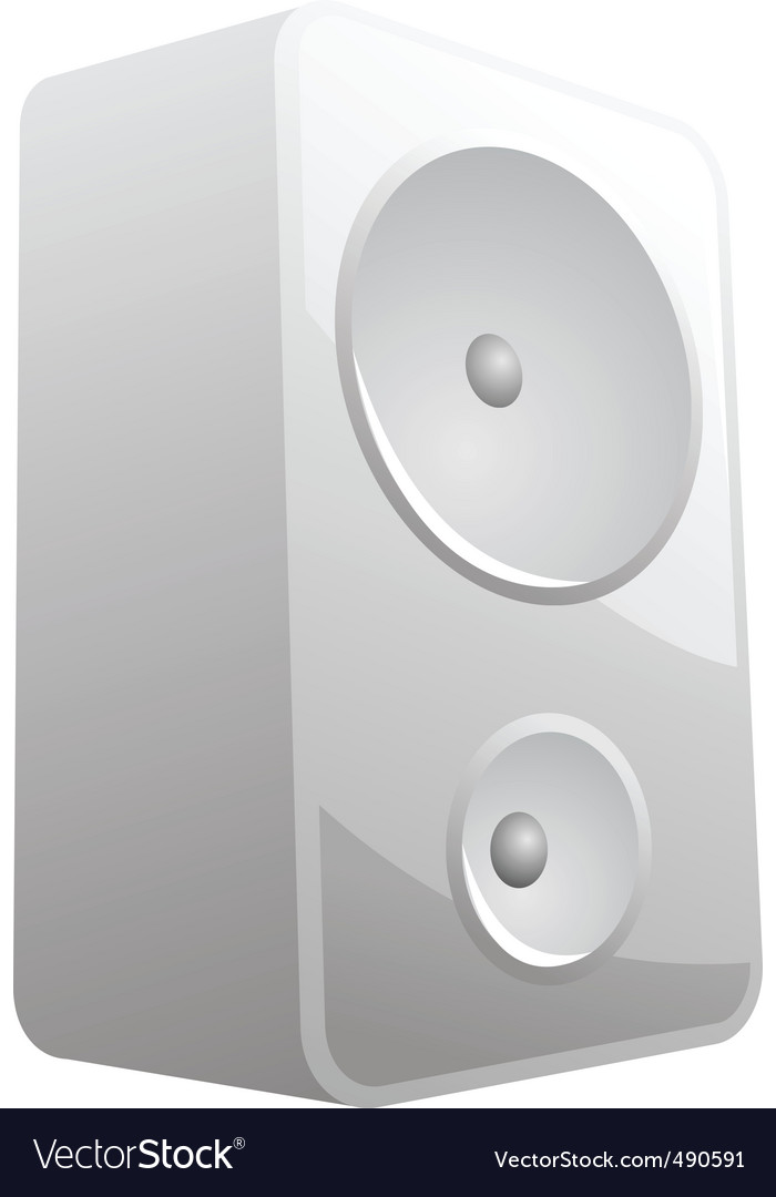 Music speaker icon vector