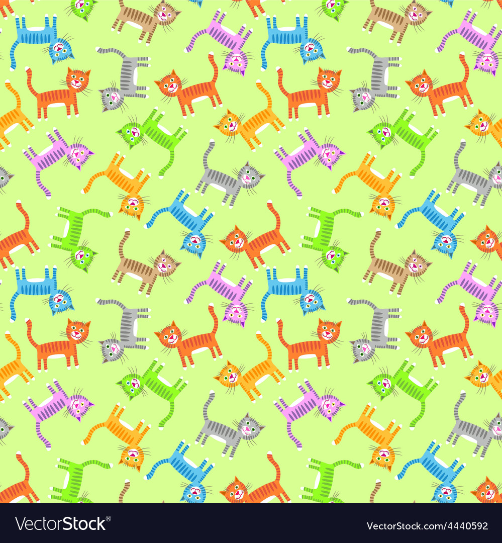 Color cats pattern
