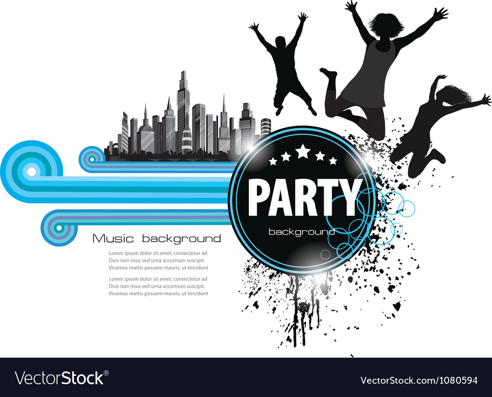Abstract vintage background for party vector
