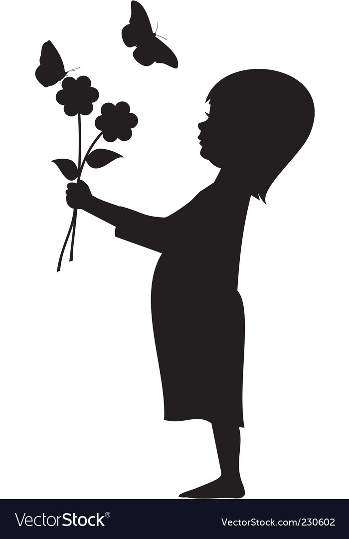 Flower girl vector