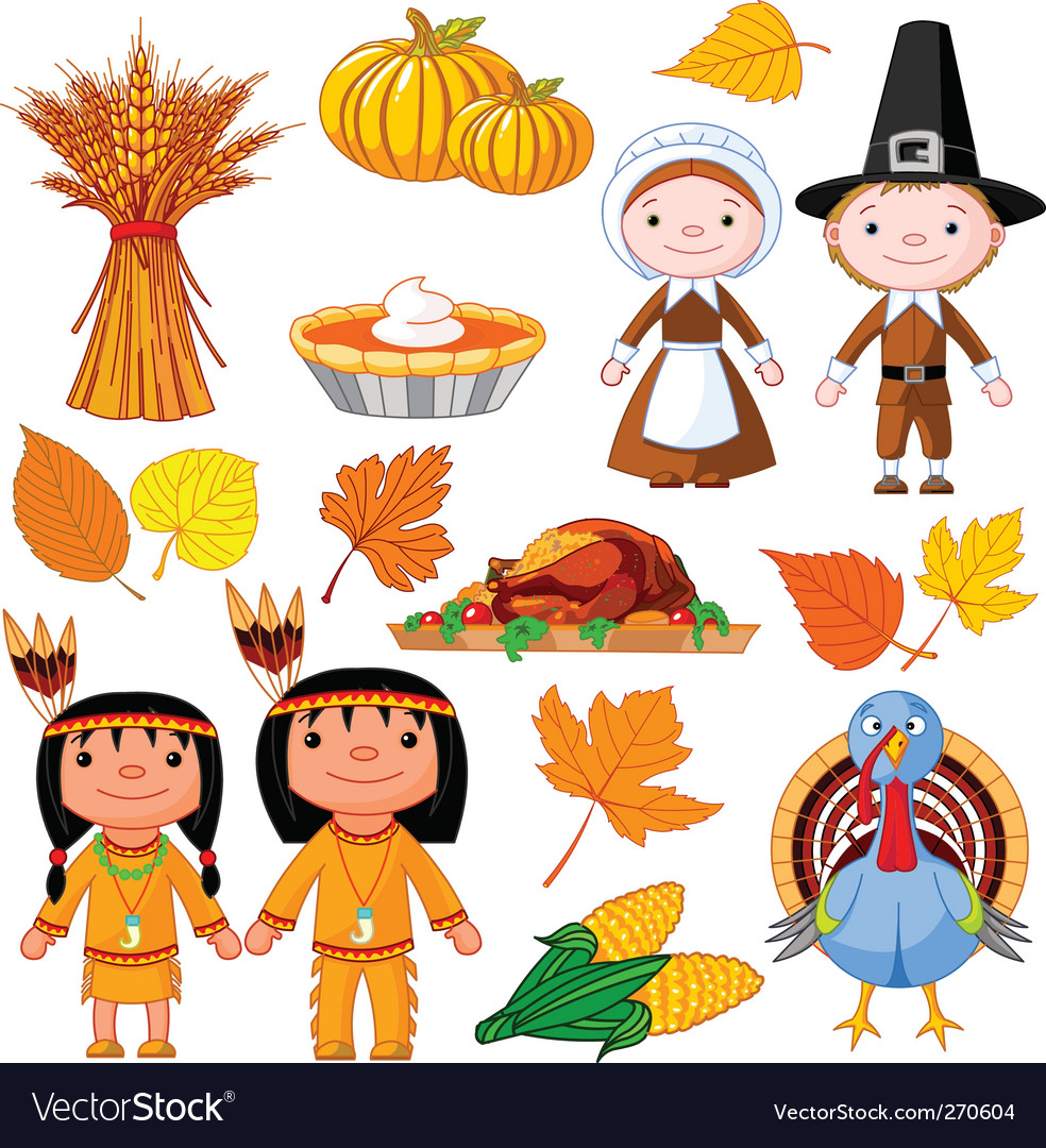 Thanksgiving icon set vector by Dazdraperma - Image #270604 ...