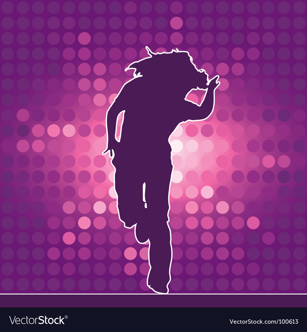 Hiphop dancing silhouette vector