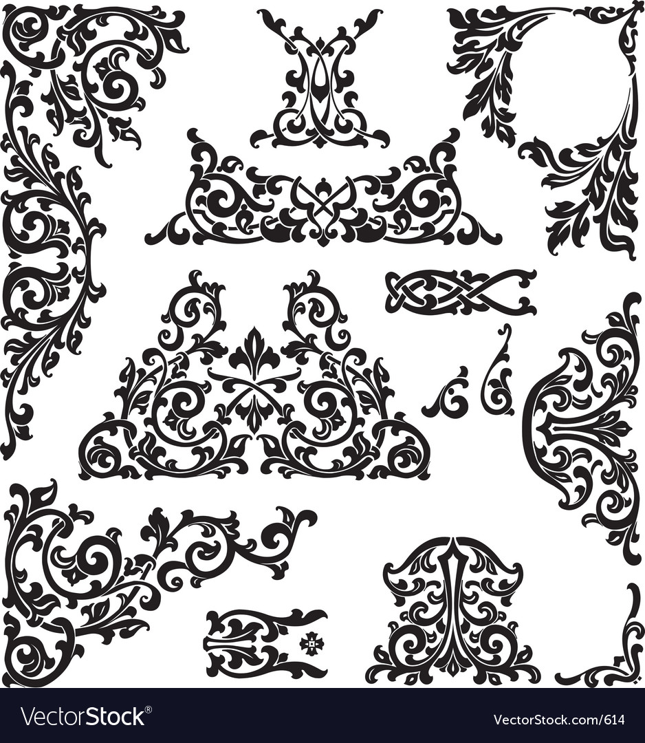 Classic ornaments vector