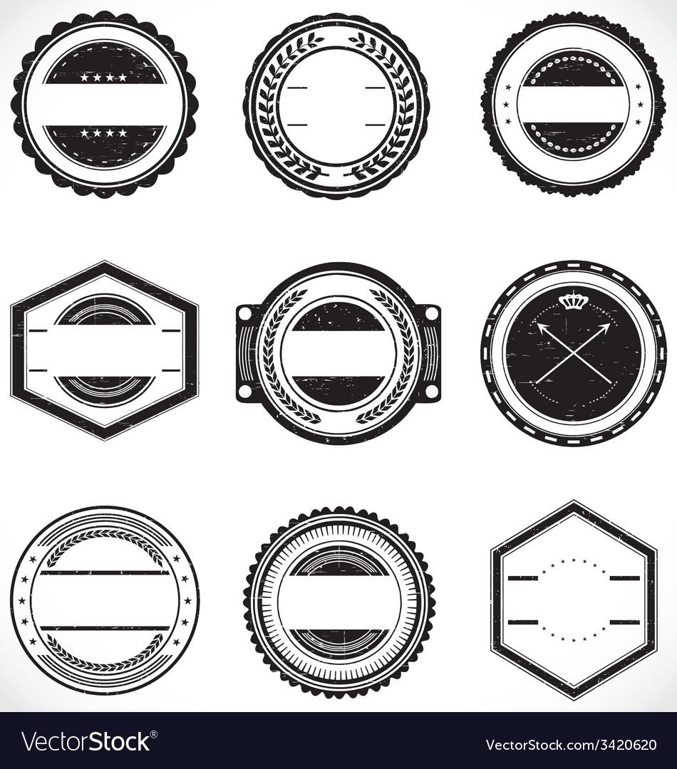 Vintage Badge Labels Template Vector Image by VectoryOne - Image ...