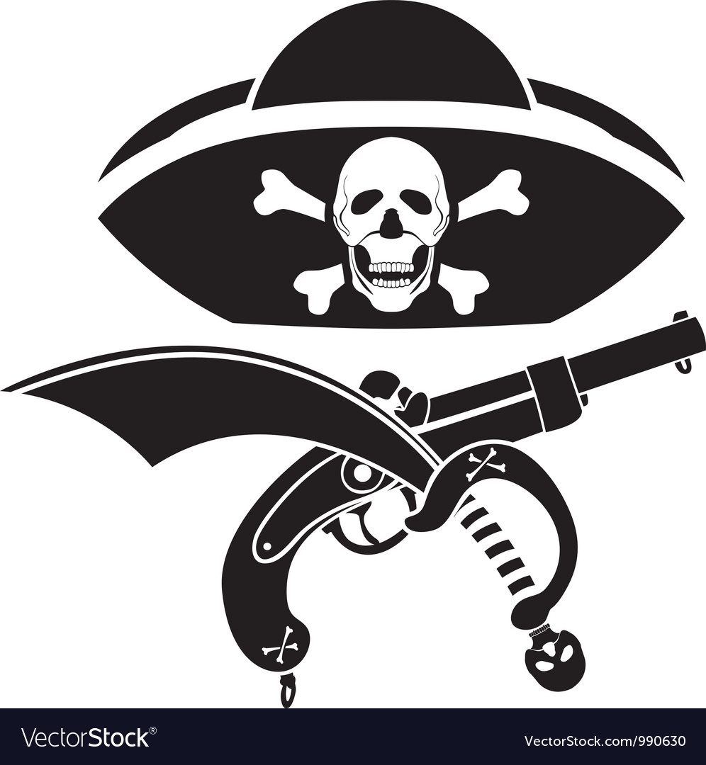 Piracy symbol vector