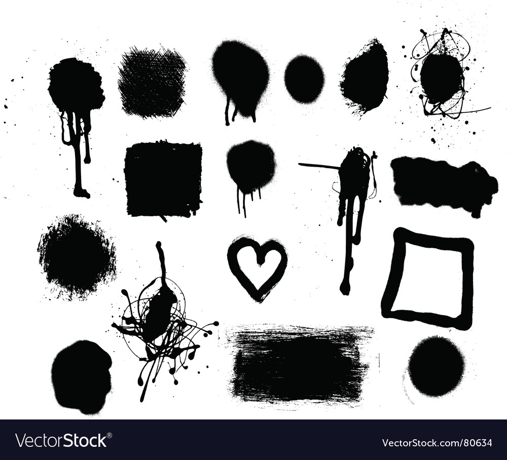 Grunge mark set vector