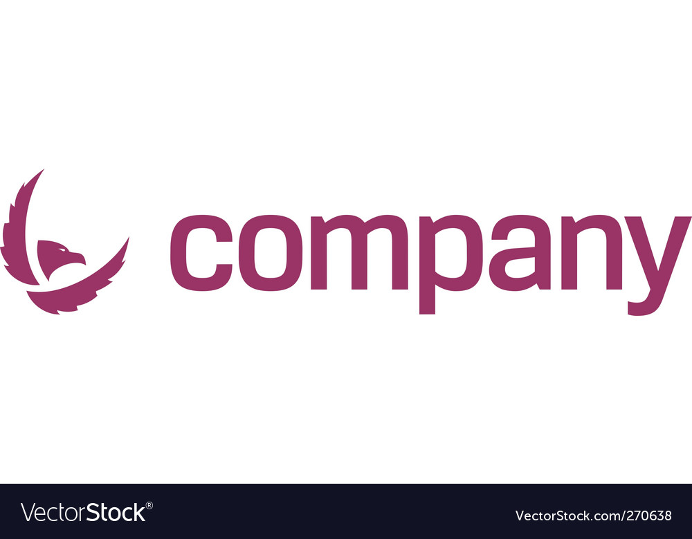 Eagle icon security company vector