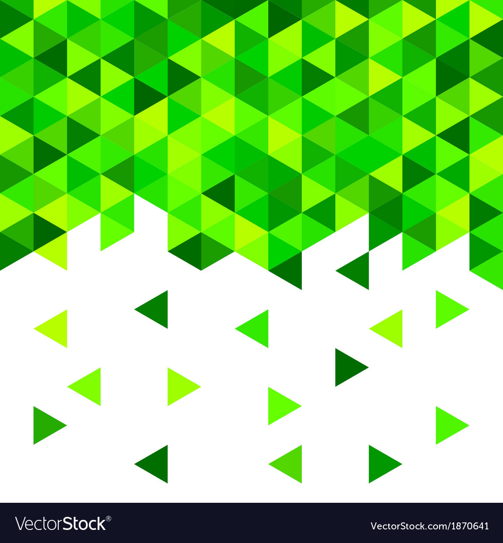 Geometric mosaic pattern from blue triangle vector by