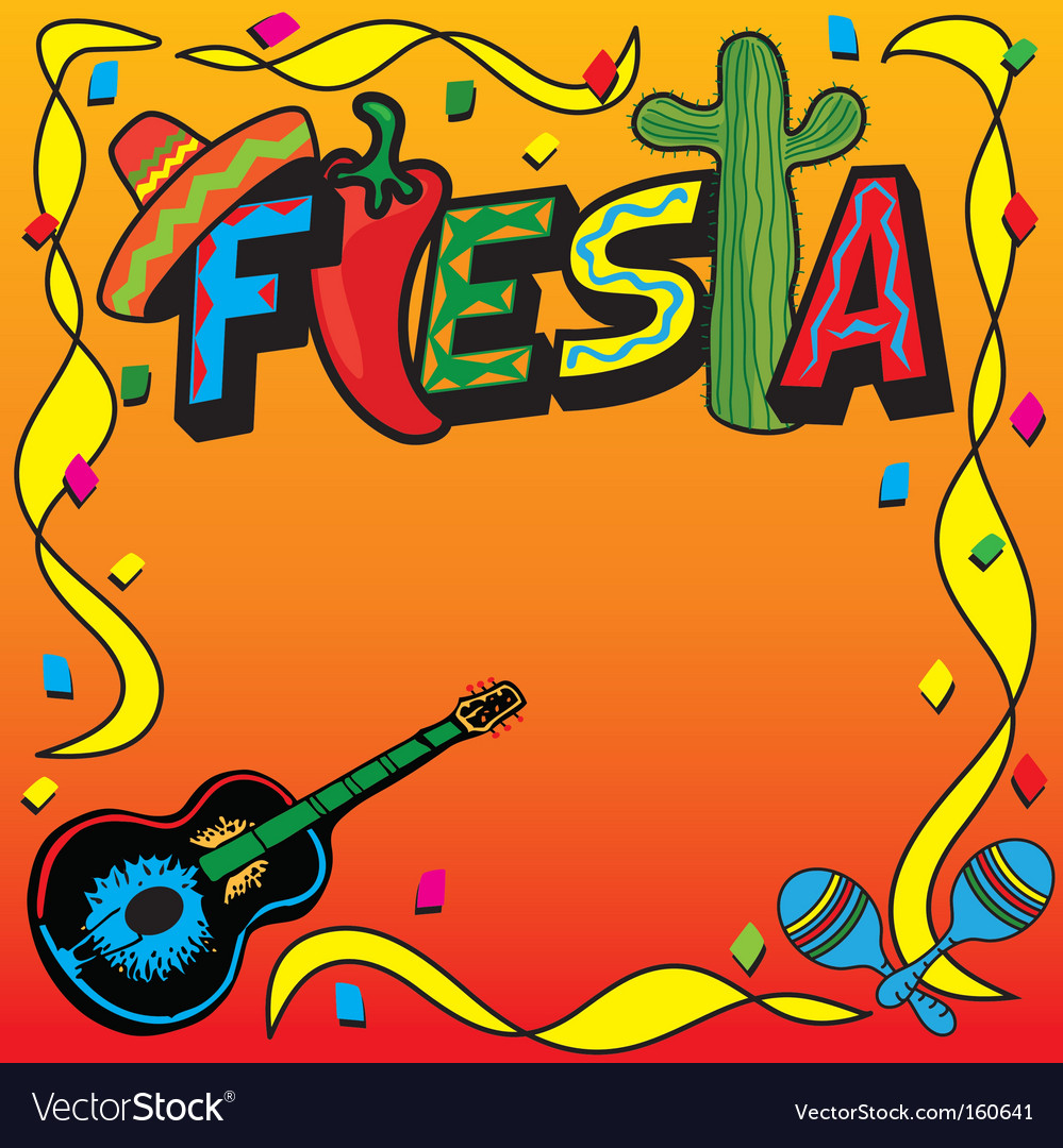 Mexican fiesta party invitation vector