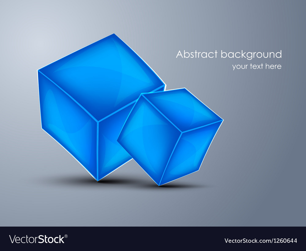Background with blue cubes vector