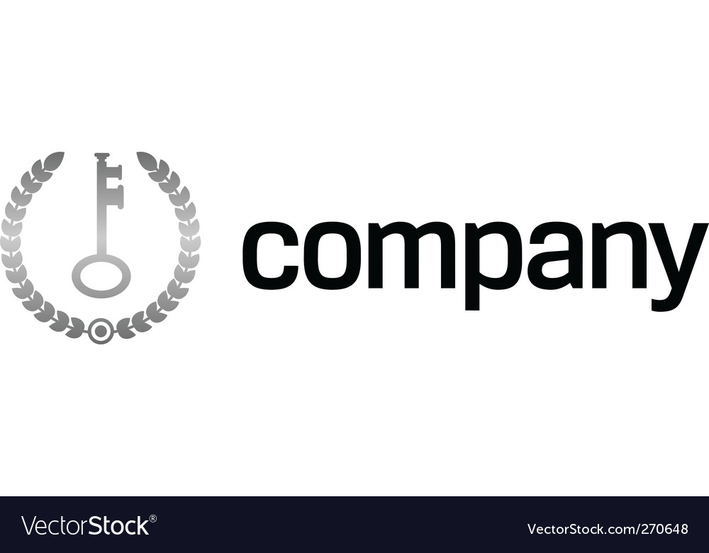 Safety key logo vector