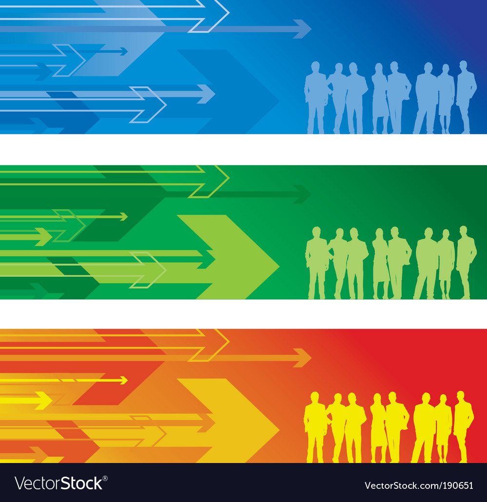Arrow banner people vector