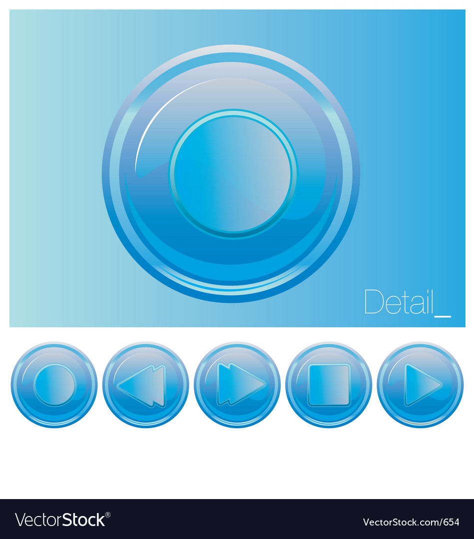 Free media buttons vector