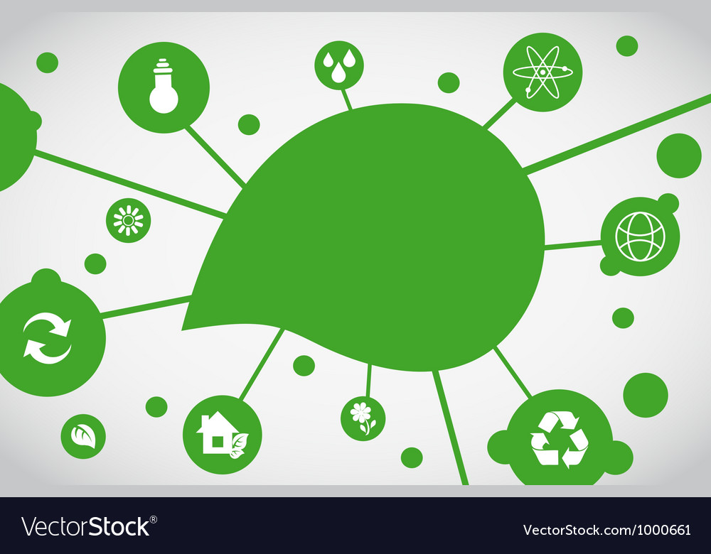Ecological background vector