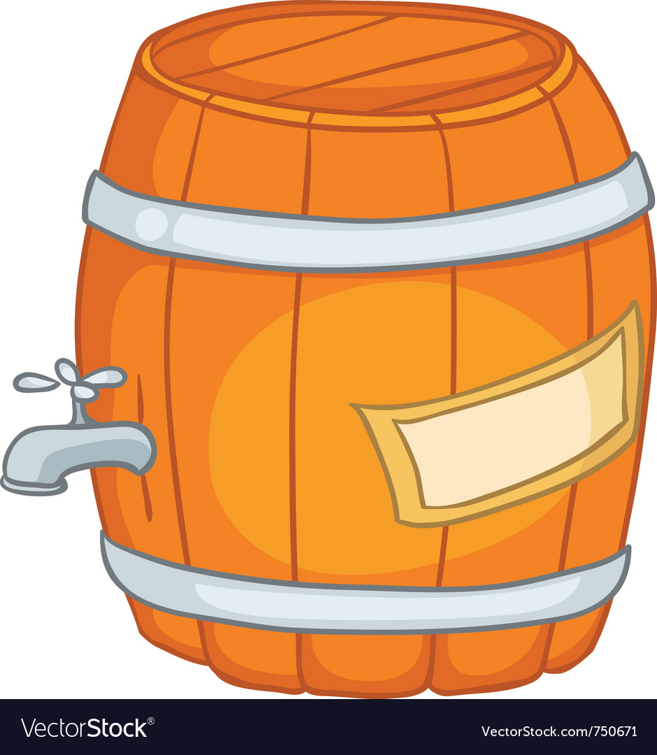 Cartoon home kitchen barrel vector